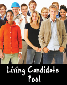 Living employee candidate pool